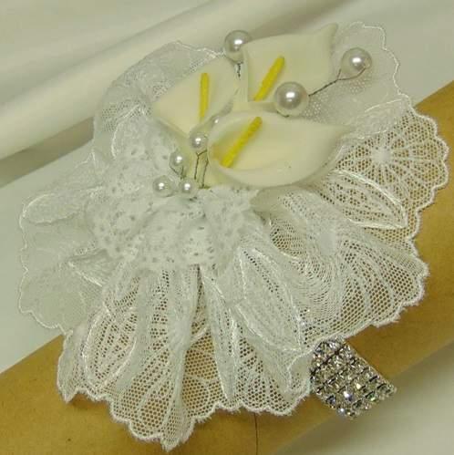 csuklódísz - menyasszonyi (fehér kálás)