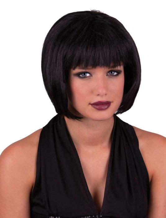 rövid, Kleopátra fazonú paróka - fekete színben