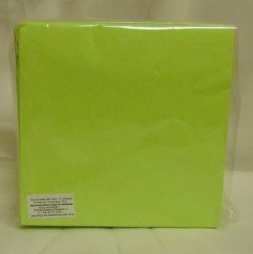 40*40 cm élénkzöld szalvéta (50 db), 3 rétegű