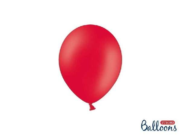 pasztel lufi 27 cm -007 piros