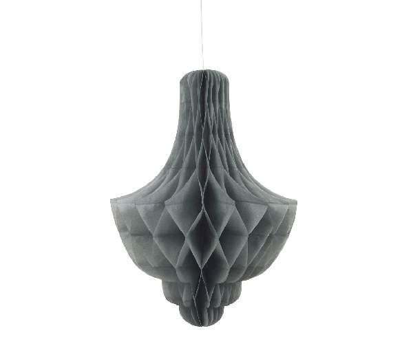 csillár lampion, ezüst, 35 cm