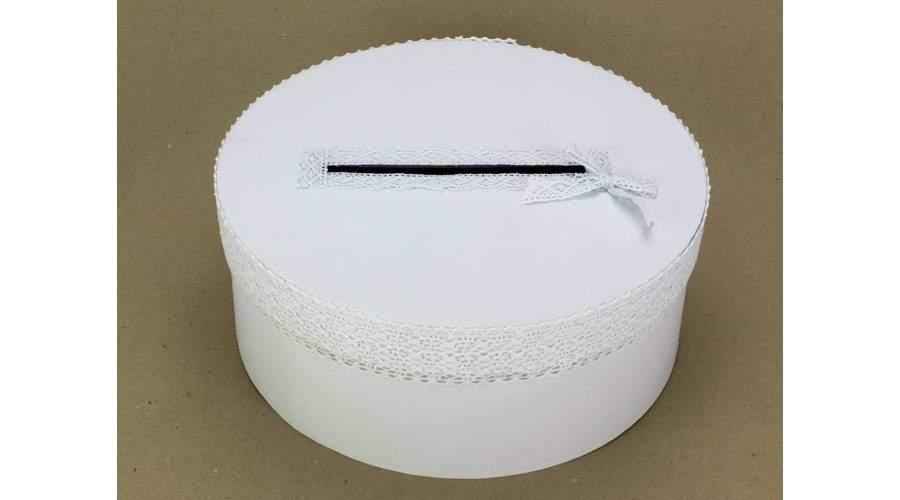 Nászajándékgyűjtő doboz csipkével (30*12 cm)