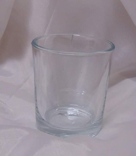 üveg mécsestartó pohár (6,5 *5,5 cm)