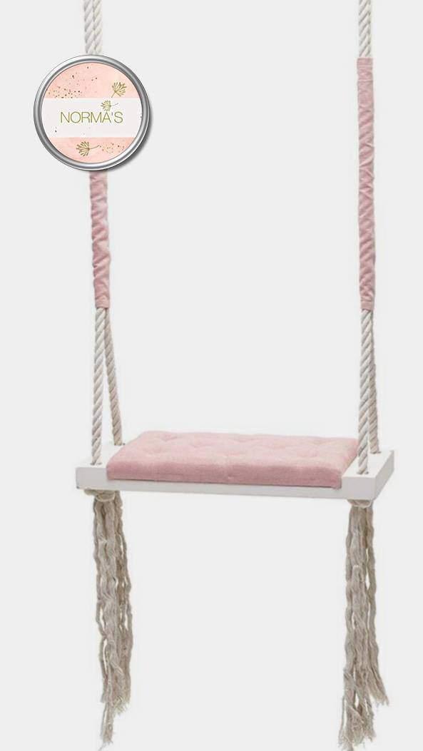 Fa hinta, gőzölt bükkfa, fehér, rózsaszín párnával